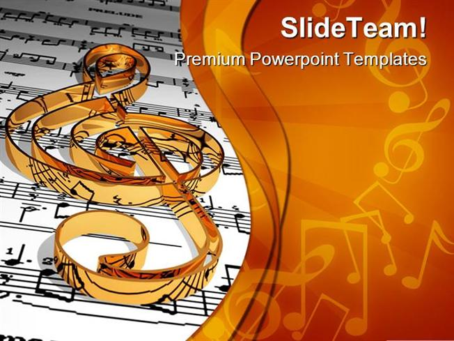 Gold music symbol powerpoint templates and powerpoint for Music themed powerpoint templates