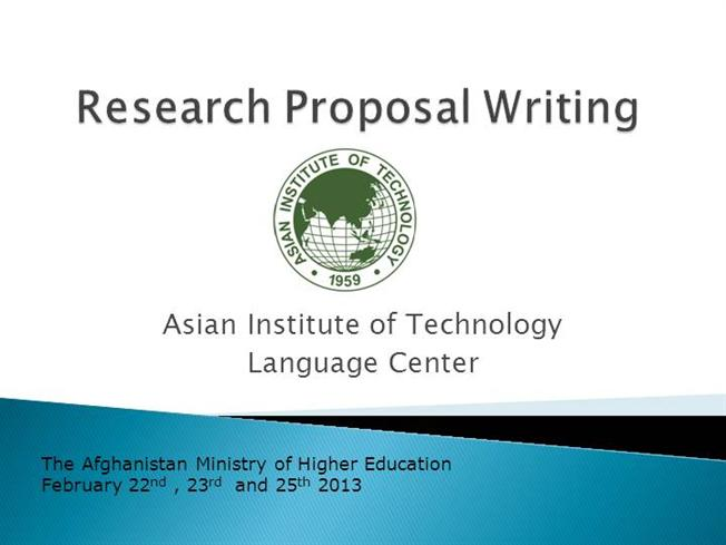 Steps in writing a research proposal ppt
