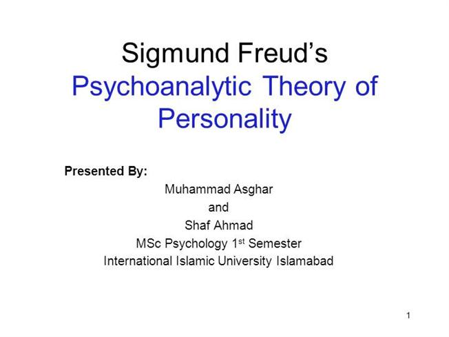 Freud Personality Theo...