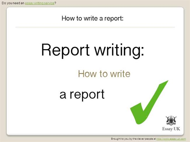 how to write a report ppt
