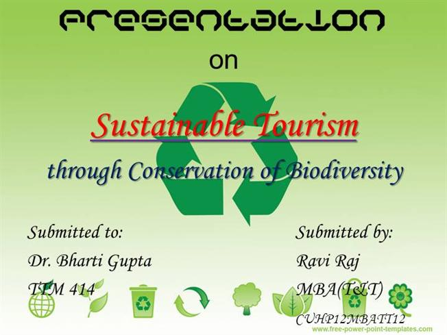 Tourism and conservation and sustainable use