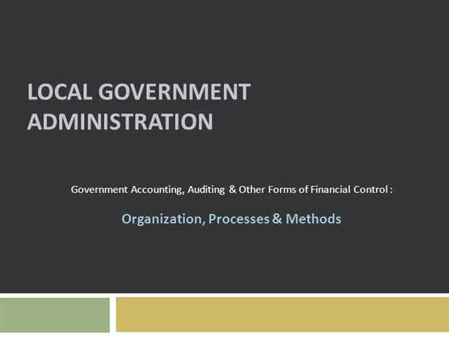 Local government administration