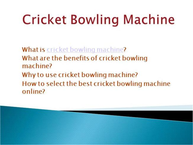 Cricket Bowling Style Cricket Bowling Machine