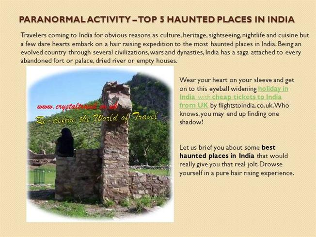 Paranormal Activity Top 5 Haunted Places In India