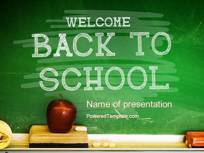 chalkboard powerpoint templates free download - school chalkboard powerpoint template by poweredtemplate