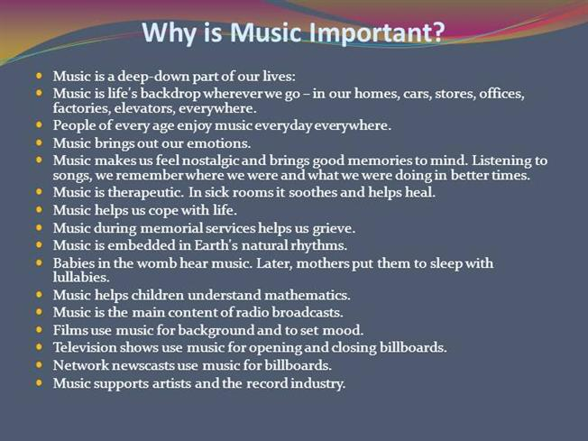 The Importance of Music in Your Life