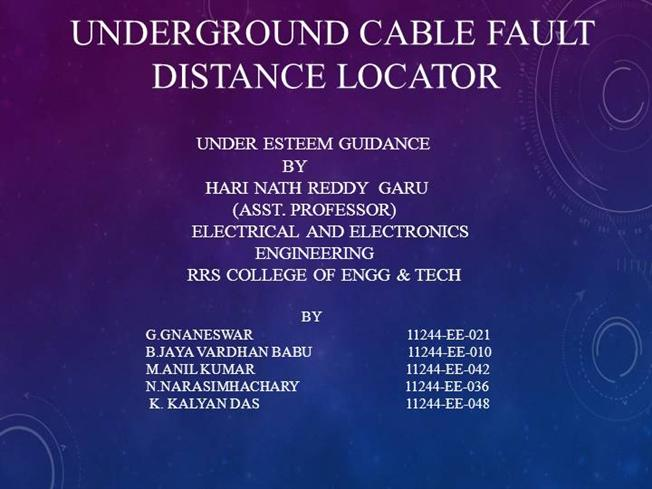 Cable Fault Dtection Authorstream