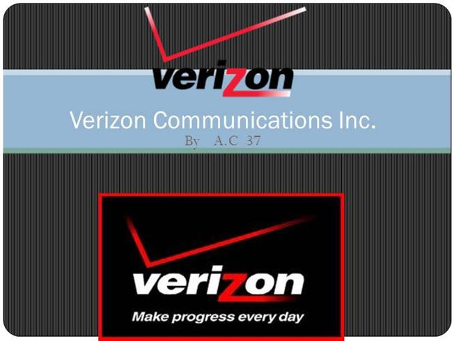 an overview of verizon communication inc View the basic vz stock chart on yahoo finance change the date range and chart type, and compare verizon communications inc against other companies.