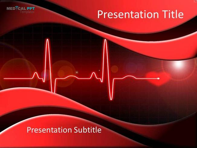 cardiac ppt template - heart cardiology powerpoint template authorstream
