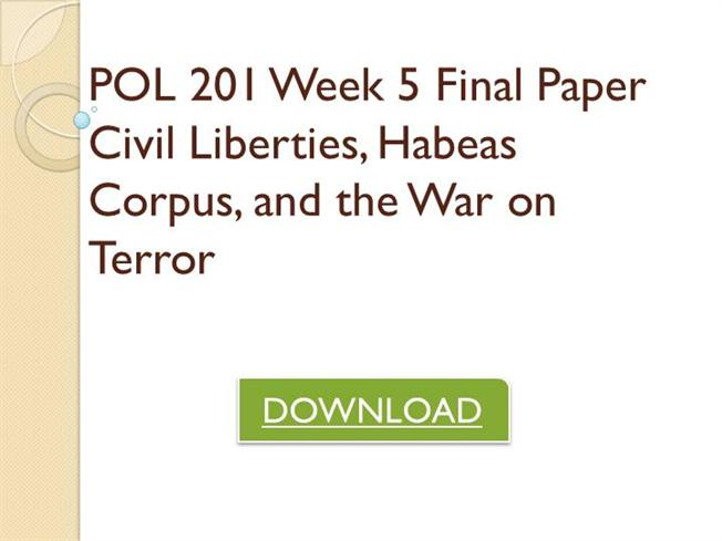 civil liberties habeas corpus and war