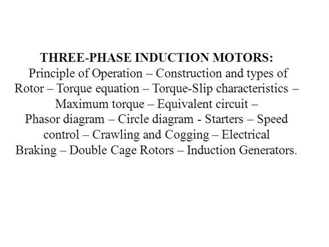 3 phase induction motor pdf nptel