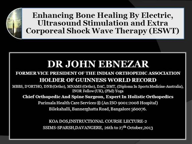 Eswt therapy for fracture healing authorstream for Guinness world record certificate template