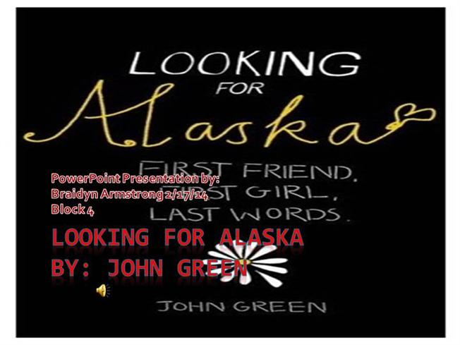 Looking For Alaska Pudge: AuthorSTREAM