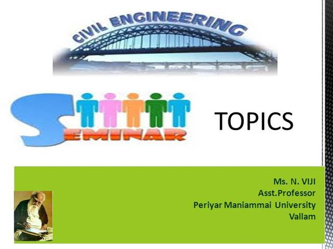 paper presentation topics for civil engineering ppt download