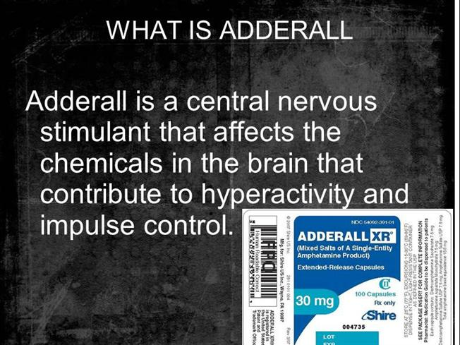 What is your experience with adderall or other study drugs