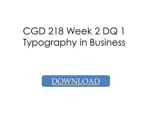 CGD 218 Week 1 Assignment Why is Visual Literacy Important