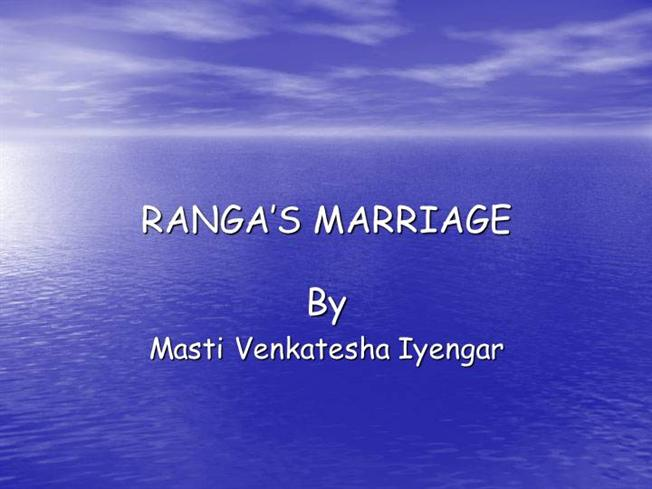 CHAPTER 3 RANGA'S MARRIAGE QUESTION ANSWERS