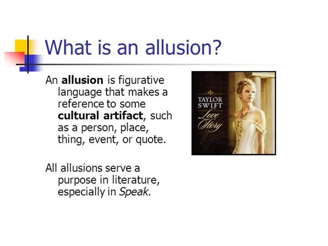 what is an allusion in writing