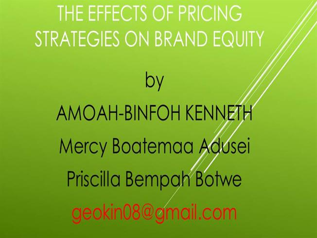 The effects of brand equity on