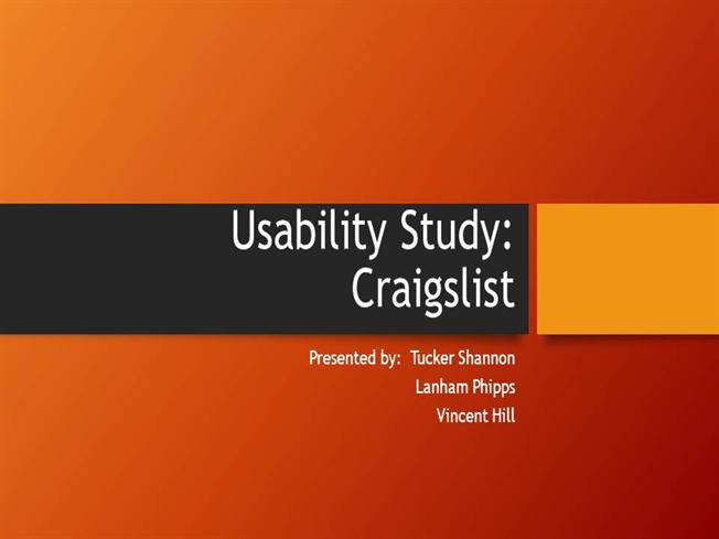 Usability study authorstream for Usability study template