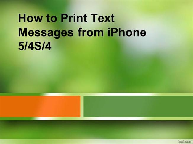 how to print text messages from iphone 5 how to print text messages from iphone 54s4 authorstream 6446