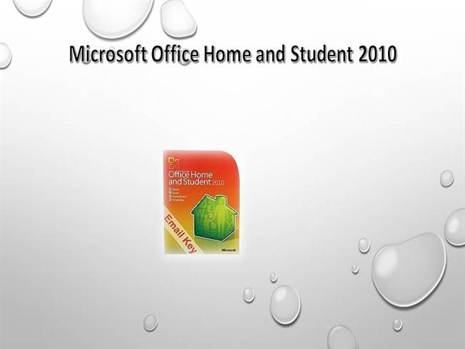 Microsoft Office Home And Student 2010 Edition Product Key