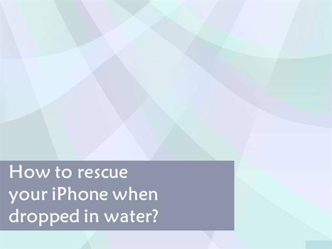 i dropped my iphone in water how to rescue your iphone when dropped in water authorstream 19282