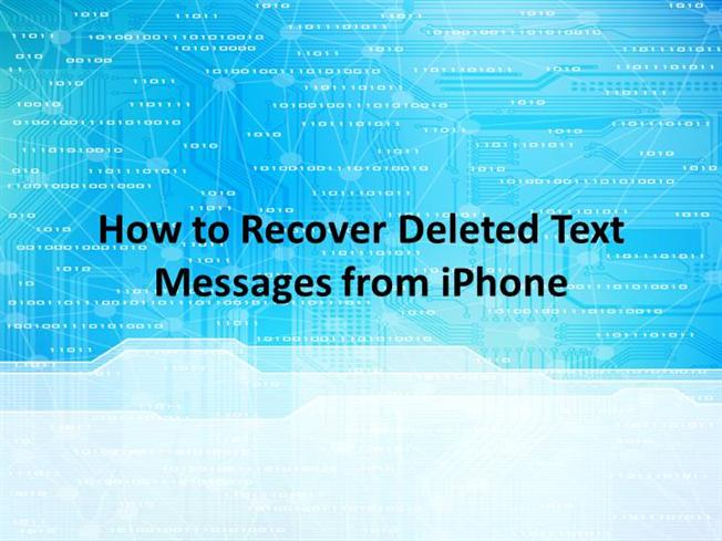 how to retrieve deleted messages from iphone how to recover deleted text messages from iphone authorstream 3464