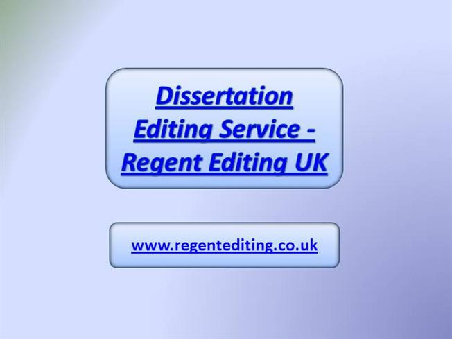 Professional editing for dissertations