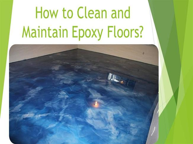 how to clean and maintain epoxy floors authorstream. Black Bedroom Furniture Sets. Home Design Ideas