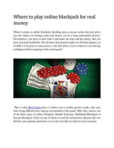 Play Blackjack Real Money