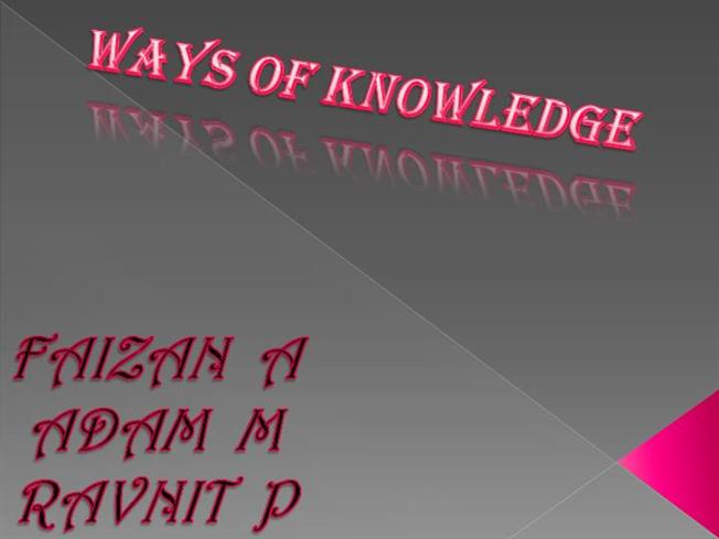 Tok ways of knowing 2 authorstream for Tok presentation template
