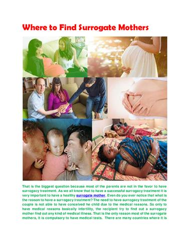 is surrogate mothering moral? essay Surrogate parenting surrogate parenting is an arrangement in which one or more persons, typically a married infertile couple (the intended rearing parents), contract with a woman to gestate a child for them and then to relinquish it to them after birth.