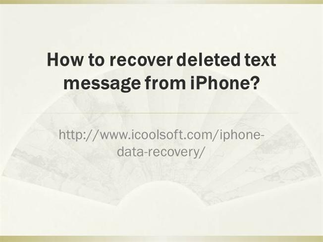 how to recover deleted text messages iphone how to recover deleted text message from iphone authorstream 3540
