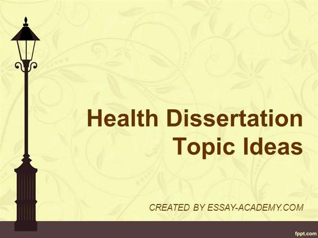 child health and wellbeing dissertation topics