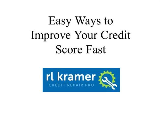 Improve your credit rating fast