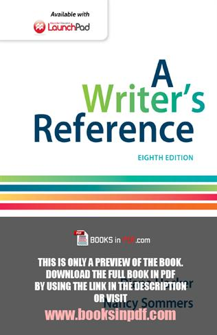 A Writers Reference With Writing About Literature 9th Edition by Hacker, Diana,