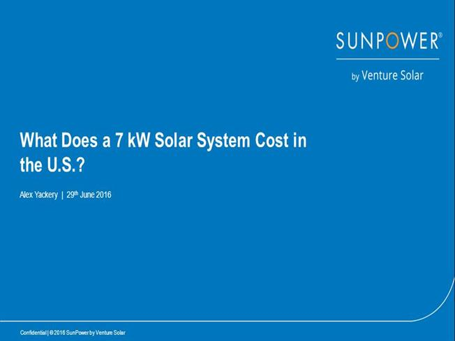 What Does A 7 Kw Solar System Cost In The U S Authorstream