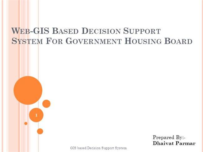 Gis based decision support system authorstream for Gis powerpoint templates