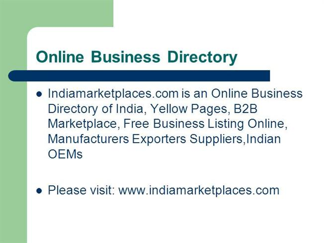 Business Directory India, Yellow Pages, B2B Marketplace