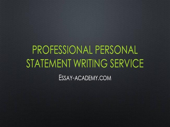 Expert personal statement