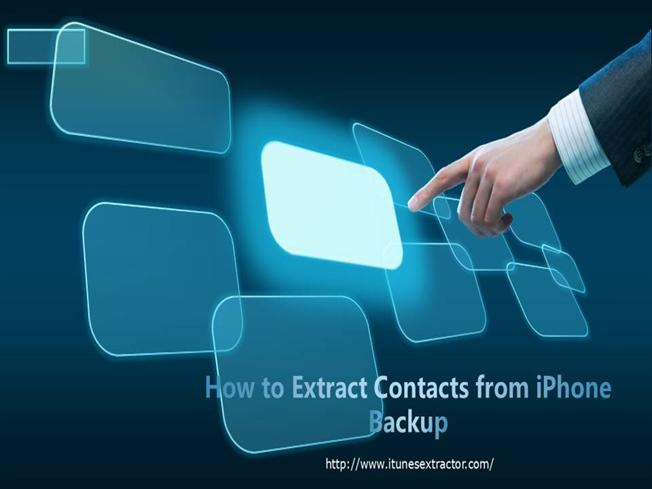 how to backup contacts on iphone how to extract contacts from iphone backup authorstream 3483