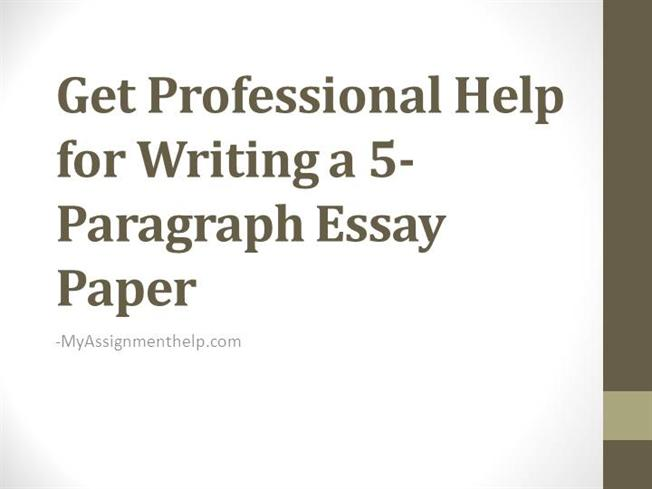 Help writing a 5 paragraph essay