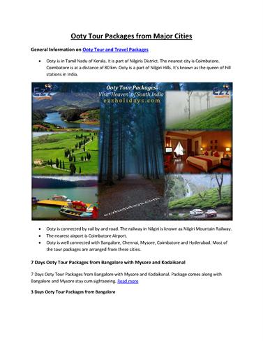 TOURIST OOTY GUIDE PDF
