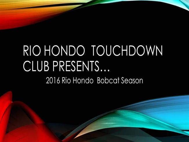 Rio hondo touchdown club presents authorstream for Key club powerpoint template