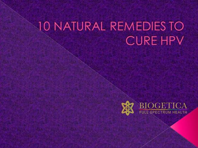 Hpv High Risk Natural Remedies