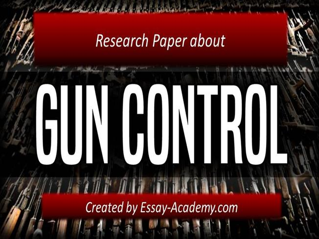 Commentary essay on gun control