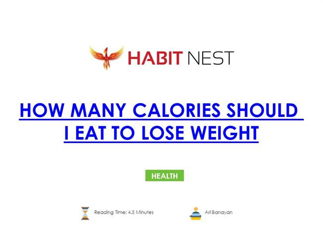 How Many Calories Should i Eat to Lose Weight |authorSTREAM