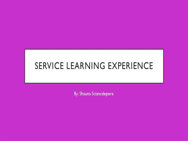Service learning essay experience