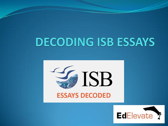 isb 2003 essays Isb essay package rs8360, two isb essays, from scratch service know more  call: 9910092169 essay writing tips and application deadlines round.